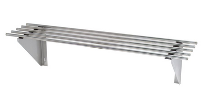FED WSP1 Stainless Steel Pipe Wallshelf - Catering Sale