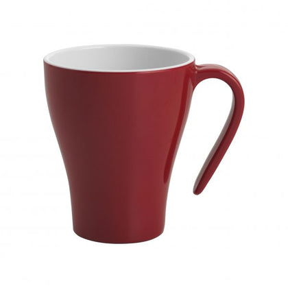 JAB GELATO-RED/WHITE COFFEE MUG STACKABLE 350ml - Catering Sale