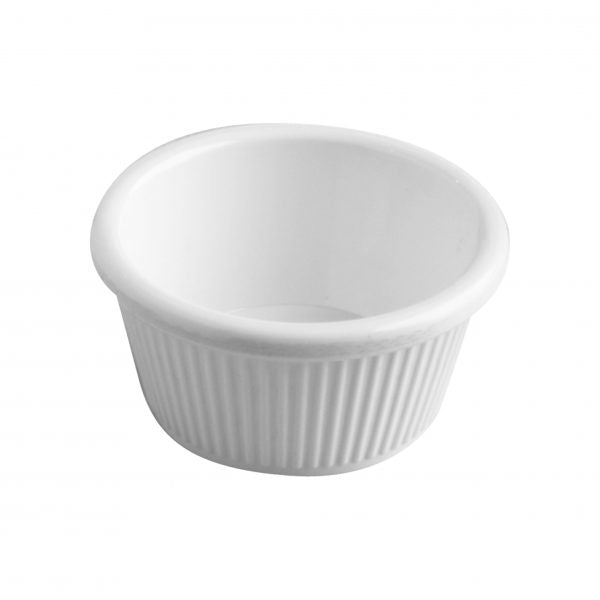 RAMEKIN FLUTED WHITE - 50x30mm 50ml (36pcs) - Catering Sale
