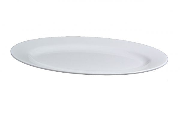 SUPERWARE OVAL PLATTER 360mm RIMMED WHITE (20124) - Catering Sale