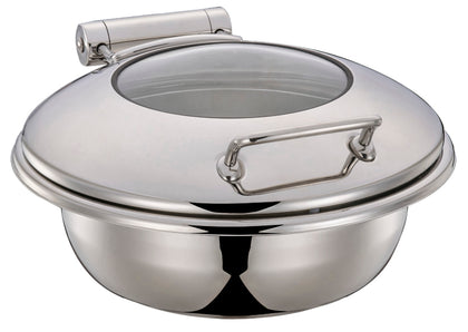 Chef Inox Ultra Chafer WITH Glass LID -ROUND(54925, 54926) - Catering Sale