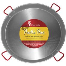 PAELLA PAN- HIGH CARBON POLISHED STEEL 900mm - Catering Sale