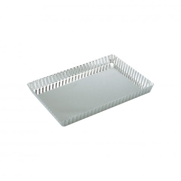 QUICHE PAN-RECTANGULAR FLUTED 300x210x25mm LOOSE BASE - Catering Sale