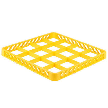 CHEFINOX WASHRACK-EXTENDER 16-COMP YELLOW 490x490x44mm (6 pcs) - Catering Sale