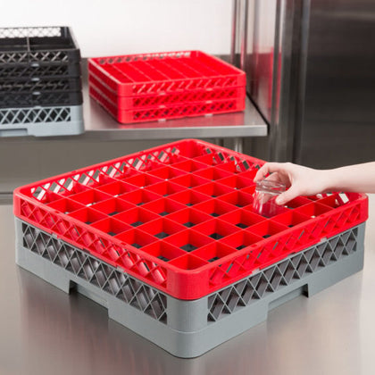 CHEFINOX WASHRACK-EXTENDER 49-COMP RED 490x490x44mm (6 pcs) - Catering Sale
