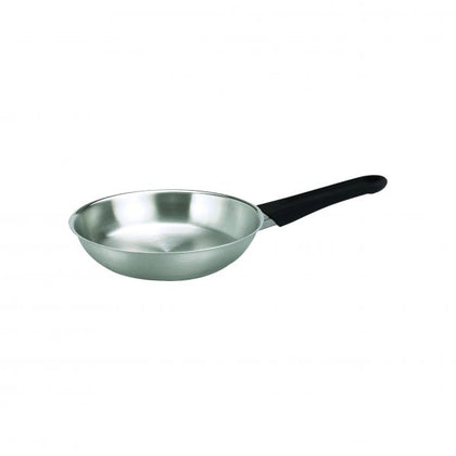 FRYPAN-S/S 240x50mm W/LID BAKELITE HDL CLUB - Catering Sale