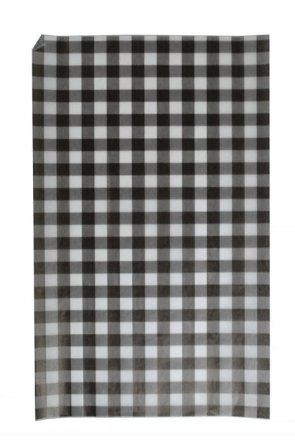 GREASEPROOF PAPER GINGHAM BLACK 190x310mm (200 sheet)