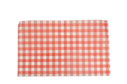 GREASEPROOF PAPER GINGHAM RED 190x310mm (200 sheet)