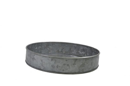CONEY ISL-GALVANISED ROUND TRAY 240x45mm - Catering Sale