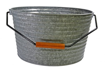 CONEY IS-GALVANISED BEVERAGE TUB WITH BLK HDL 450x340mm - Catering Sale