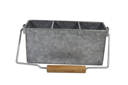 CONEY IS-GALVANISED 3 COMP CADDY WITH HDL 250x90x115mm - Catering Sale