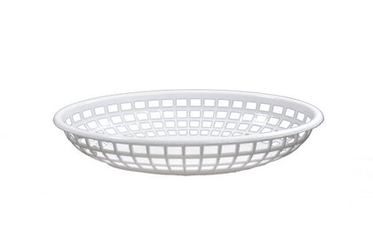 CONEY IS-PLASTIC SERVING BASKET OVAL (3 colors) 12pcs/set