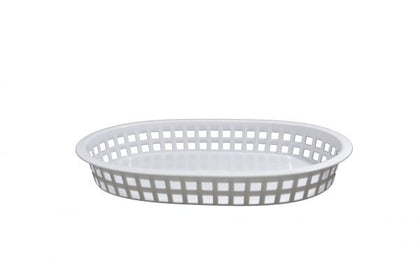 CONEY IS-PLASTIC SERVING BASKET RECT WHITE 270x180x40mm - Catering Sale