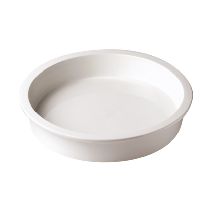 CHEF INOX ROUND PORCELAIN INSERT 337x65mm,3.7lt - Catering Sale