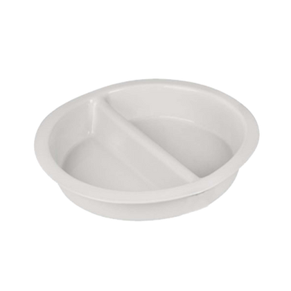 CHEF INOX ROUND PORCELAIN INSERT DIVIDED 337x65mm,3.7lt - Catering Sale