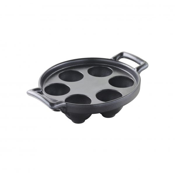 REVOL BELLE CUISINE CHARCOAL SNAIL PLATE 6 HOLE - Catering Sale