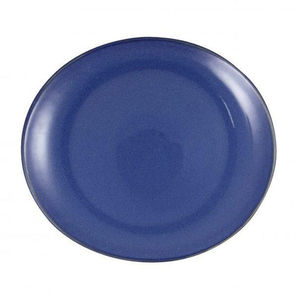 ARTISTICA OVAL PLATE-295x250mm REACTIVE BLUE (4pcs) - Catering Sale