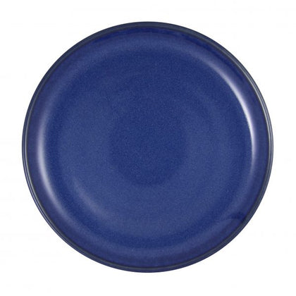 ARTISTICA ROUND PLATE-220mm Rolled Edge REACTIVE BLUE (4pcs) - Catering Sale