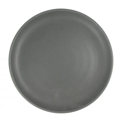 ARTISTICA ROUND PLATE-220mm Rolled Edge SLATE (4pcs) - Catering Sale