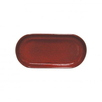 ARTISTICA OVAL PLATE COUPE 300x140mm REACTIVE RED (4pcs) - Catering Sale