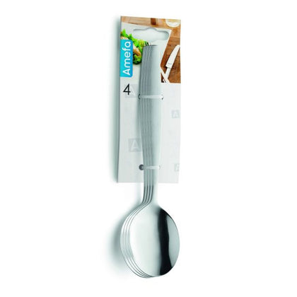 AMEFA AMSTERDAM HANGING CARD DESSERT SPOON 4PC