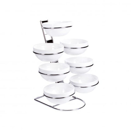 APS CASCADE BOWL STAND- incl 7 x 230mm BOWLS APS83702 - Catering Sale