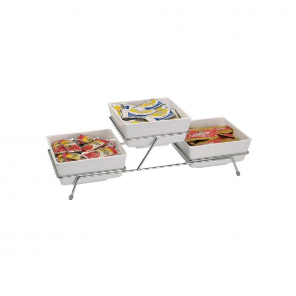 BUFFET STAND 3 COMP TO FIT 83916 & 83917 C/PLATED - Catering Sale
