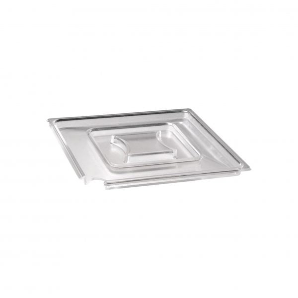 CLEAR COVER- SQUARE W/NOTCH 190mm TO SUIT 83916 & 83917 - Catering Sale