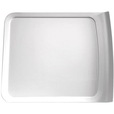 APS SQUARE TRAY WHITE MELAMINE