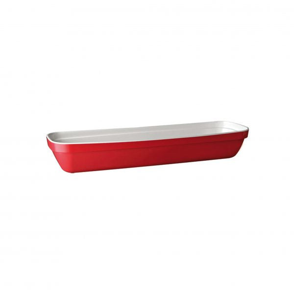 "APS GN PAN- 2/4 SIZE 530x162x85mm RED MELAMINE ""BASKET"""