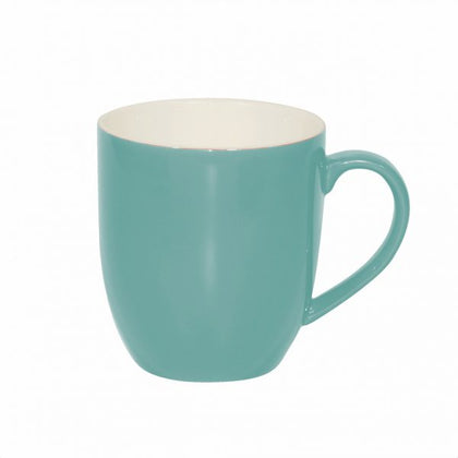 BREW-TEAL/WHITE MUG 380ml (6pcs) - Catering Sale