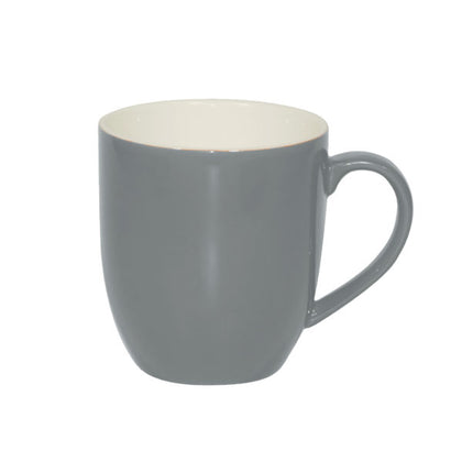 BREW-FRENCH GREY/WHITE MUG 380ml (6pcs) - Catering Sale