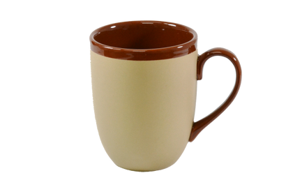 BREW-HARVEST/ BROWN TWO TONE GLOSS MUG 380ml (6pcs) - Catering Sale