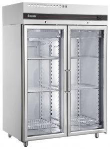 Inomak UFI1140G Double Glass Door Upright Fridge