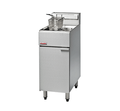 Fastfry FF18 Gas Fryer - 400mm Gas Deep Fryer - Single Pan