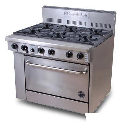 Goldstein 6 Burner Gas Range - Fan Forced - Catering Sale