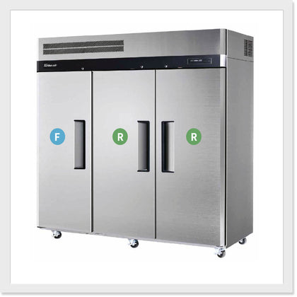 Turbo Air KRF65-3 Top Mount Dual Temp Refrigerator/Freezer - Catering Sale