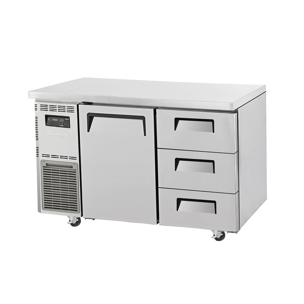 Turbo Air KUF12-3D-3 Drawer Under Counter Side Prep Table Freezer - Catering Sale