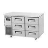 Turbo Air KUF12-3D-6 Drawer Under Counter Side Prep Table Freezer - Catering Sale