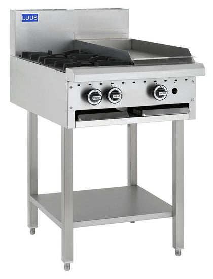 LUUS BCH-2B3P 2 Burners, 300 Grill & Shelf - Catering Sale