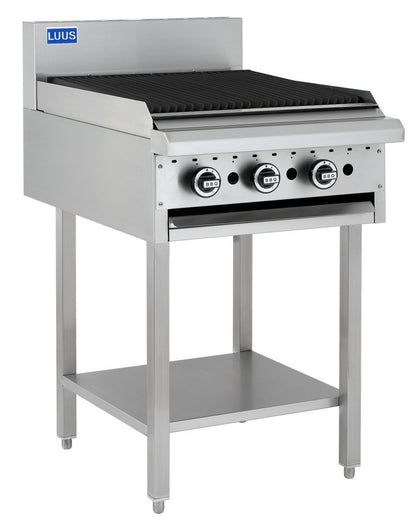LUUS BCH-6C 600mm Char grill BBQ & Shelf - Catering Sale
