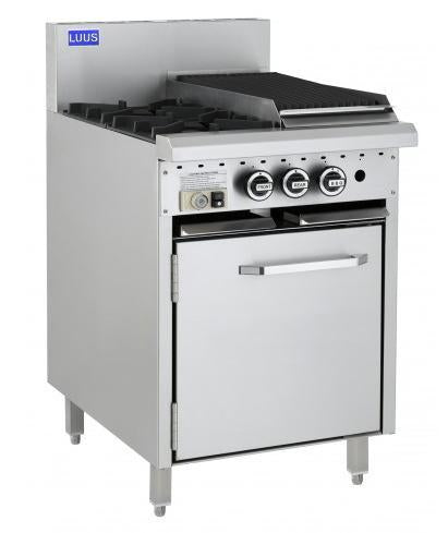 LUUS CRO-2B3C 2 Burners, 300 BBQ & Oven - Catering Sale