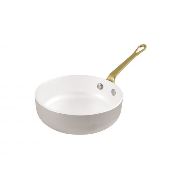 MINIATURE FRYPAN ALUMINUM w/WHT CERAMIC 120mm - Catering Sale
