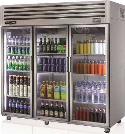 SKIPIO SRT65-3G Top Mount Glass Door Refrigerator