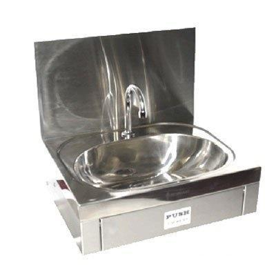 Simply Stainless Knee Operated Wash Basin with Splashback - Catering Sale