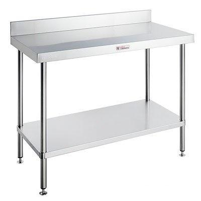 Simply Stainless Work Bench with Splash Back - Catering Sale