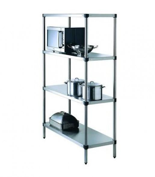 Simply Stainless Adjustable 4 Tier Shelving - Catering Sale