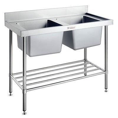 Simply Stainless Double Sink Bench - Catering Sale