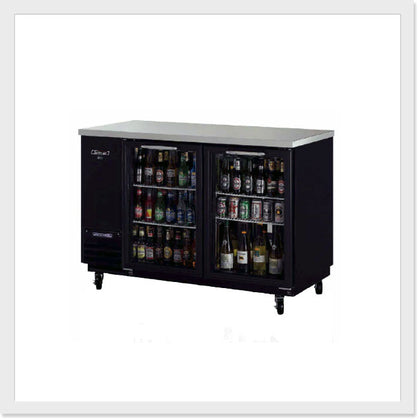 Turbo Air TBB-2SG Glass / TBB-2SB  Black Back Bar