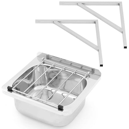 3MK AB-CS-B Cleaner's Sink with Grate and Brackets - Catering Sale